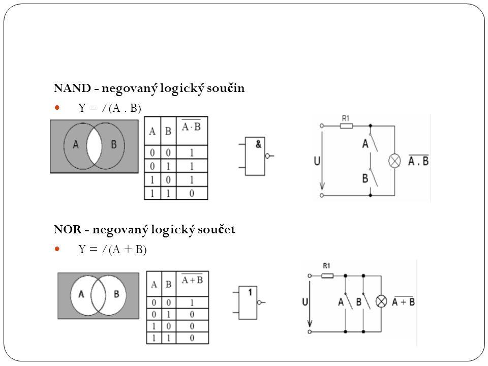 NAND - negovaný logický součin