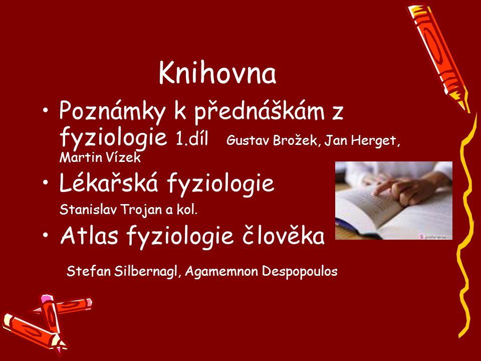 Knihovna Poznámky k přednáškám z fyziologie 1.díl Gustav Brožek, Jan Herget, Martin Vízek. Lékařská fyziologie.
