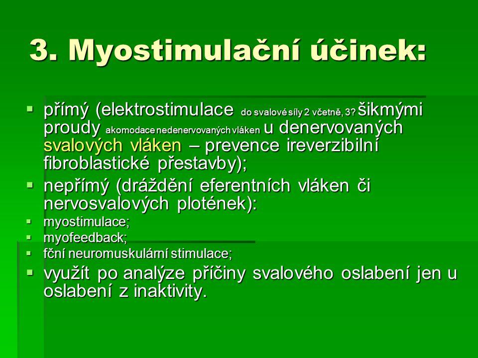 3. Myostimulační účinek: