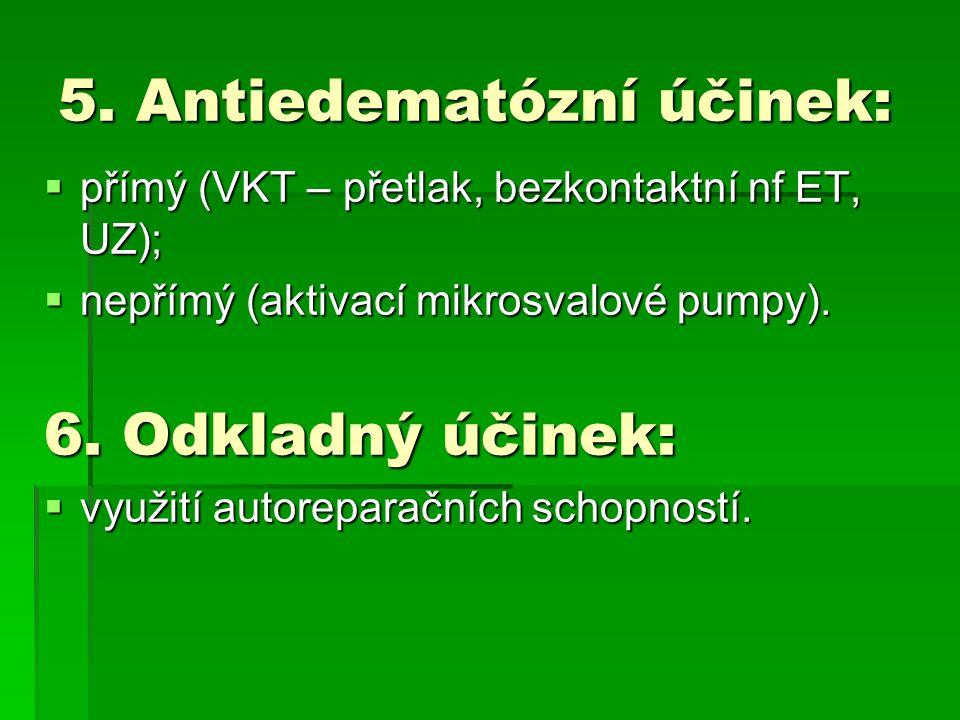 5. Antiedematózní účinek: