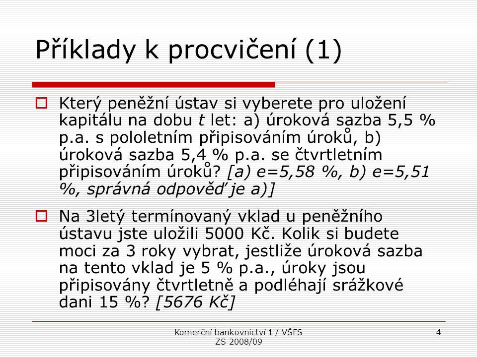 Příklady k procvičení (1)