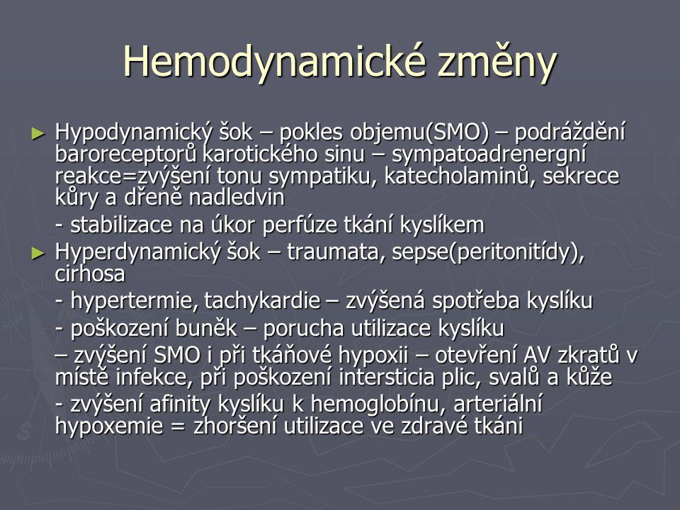Hemodynamické změny