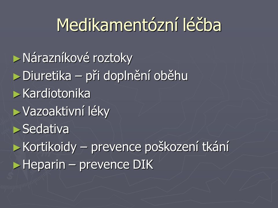 Medikamentózní léčba Nárazníkové roztoky