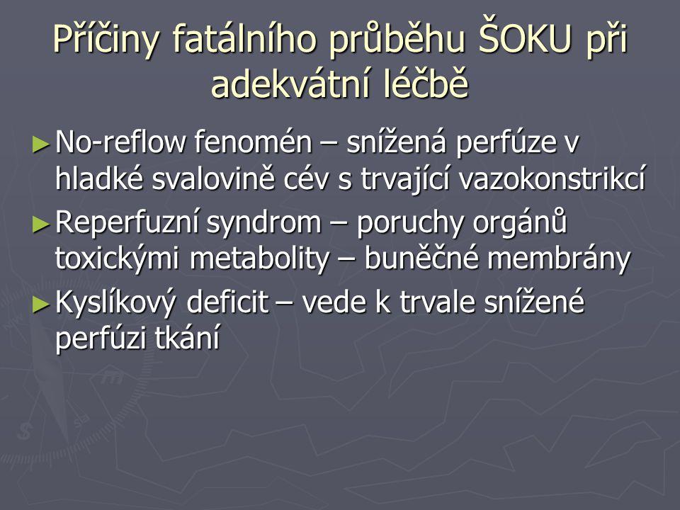 Příčiny fatálního průběhu ŠOKU při adekvátní léčbě