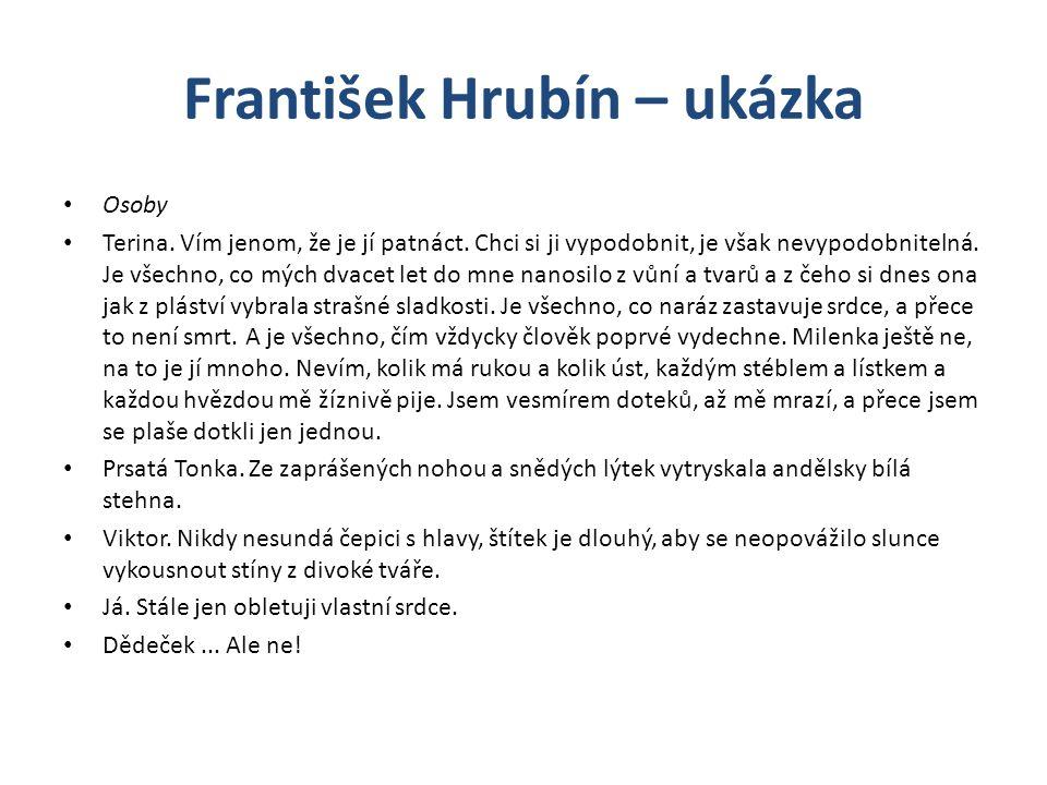 František Hrubín – ukázka