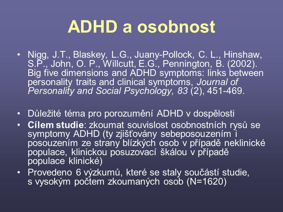 ADHD a osobnost