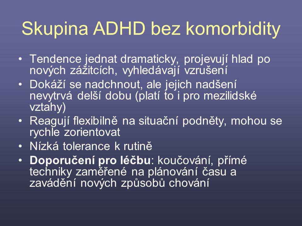 Skupina ADHD bez komorbidity