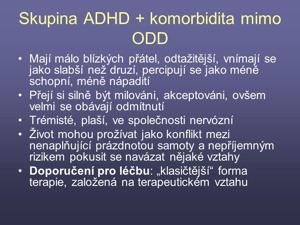 Skupina ADHD + komorbidita mimo ODD