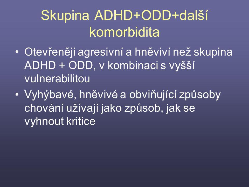 Skupina ADHD+ODD+další komorbidita