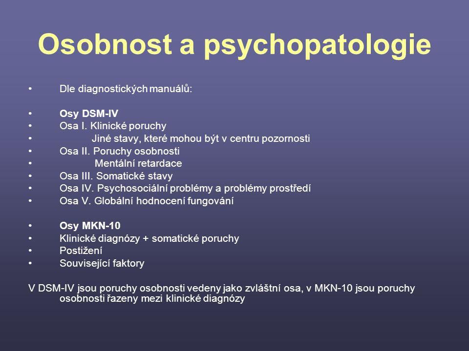 Osobnost a psychopatologie