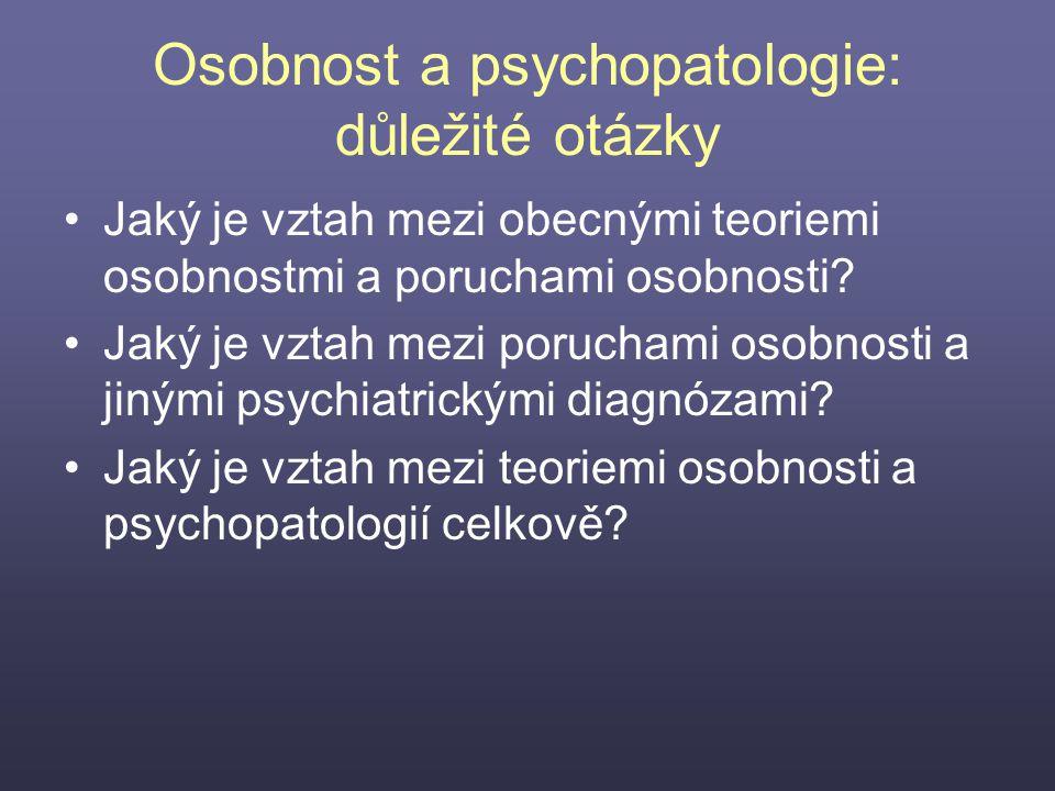 Osobnost a psychopatologie: důležité otázky