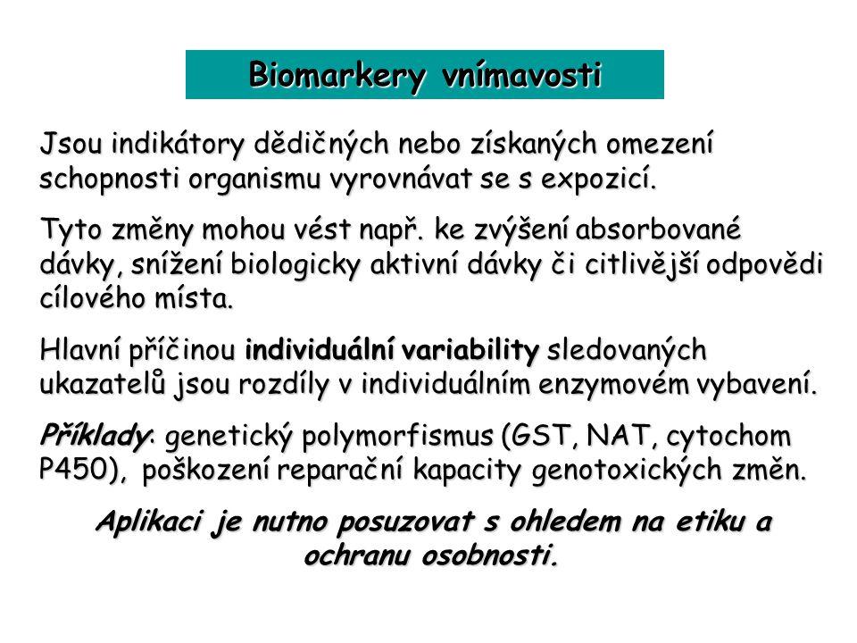 Biomarkery vnímavosti