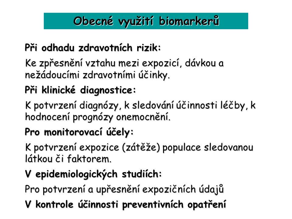 Obecné využití biomarkerů