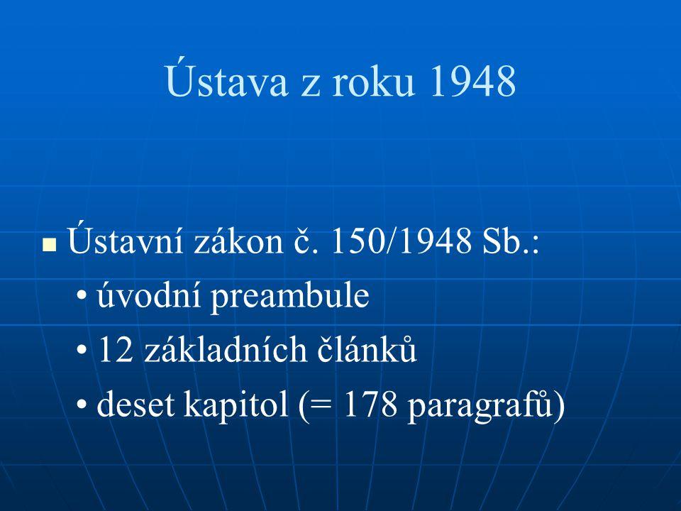 Ústava z roku 1948 Ústavní zákon č. 150/1948 Sb.: úvodní preambule