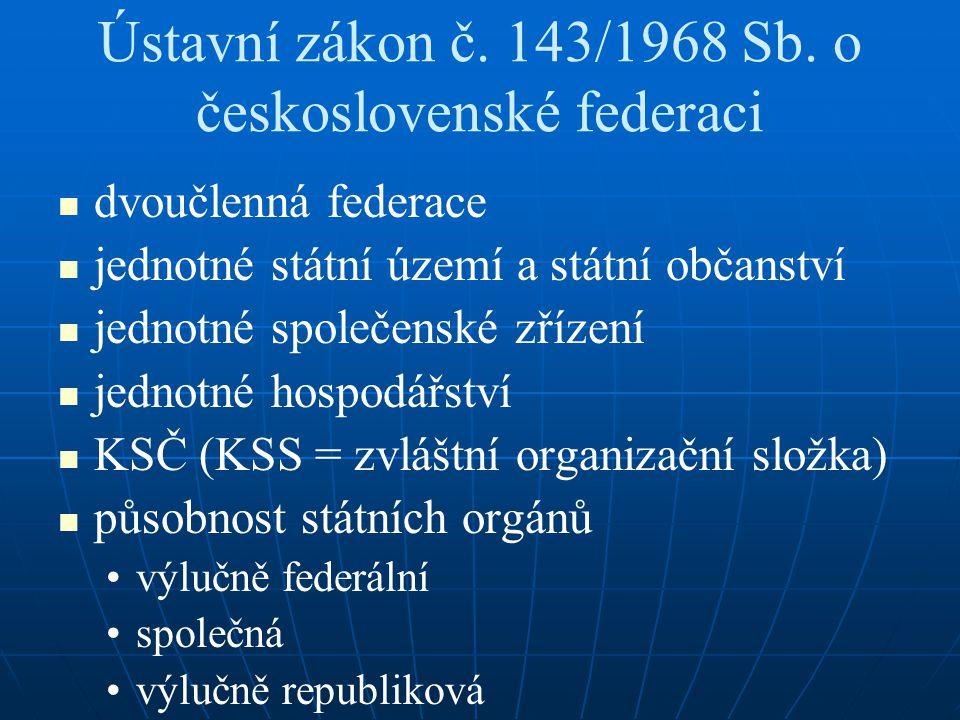 Ústavní zákon č. 143/1968 Sb. o československé federaci