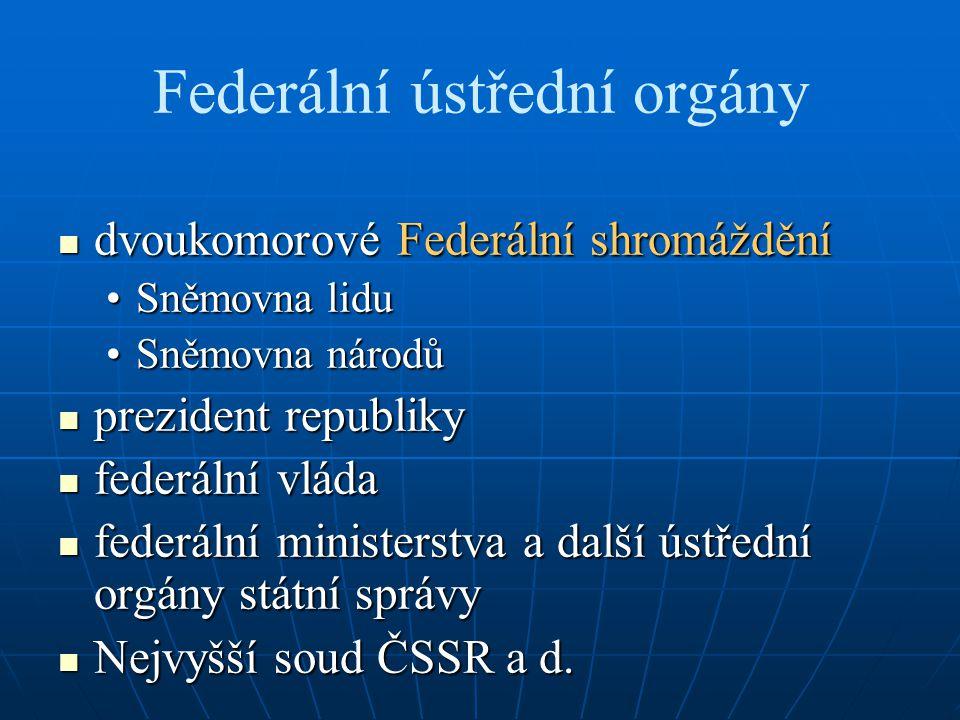 Federální ústřední orgány
