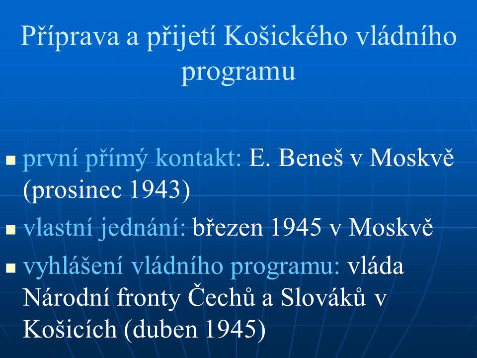 Příprava a přijetí Košického vládního programu