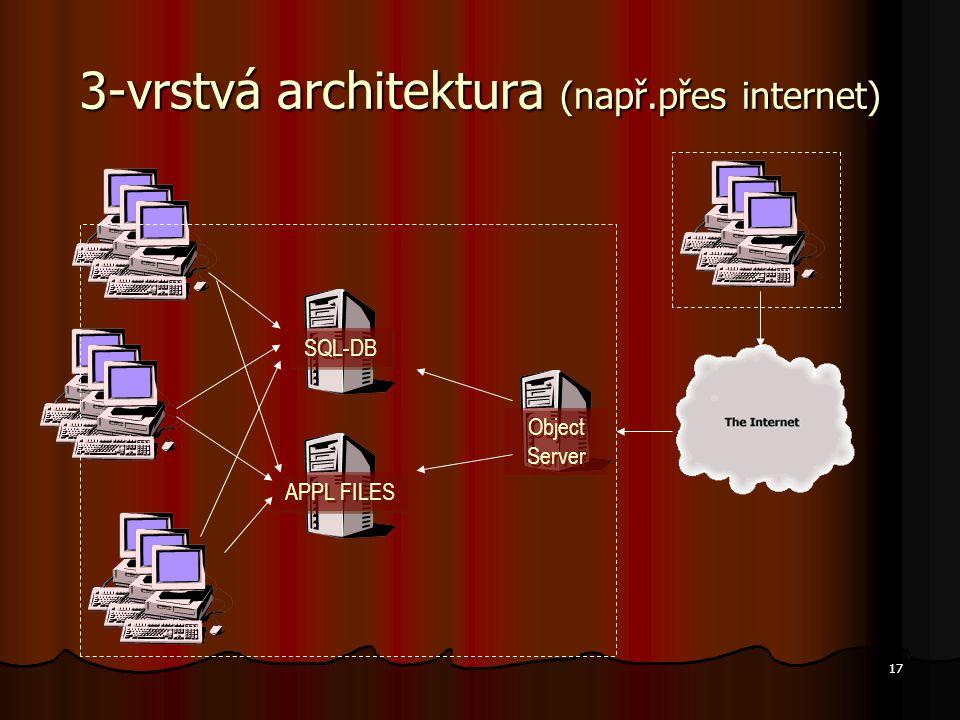3-vrstvá architektura (např.přes internet)