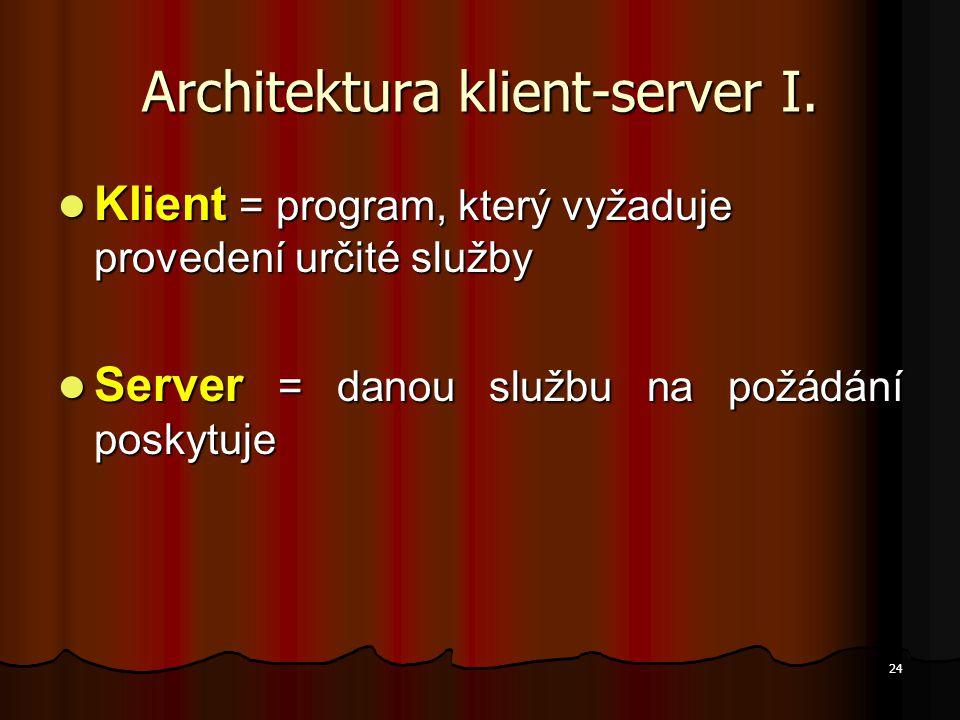 Architektura klient-server I.