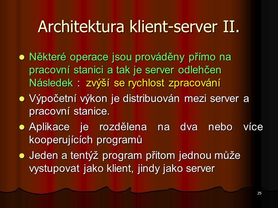 Architektura klient-server II.