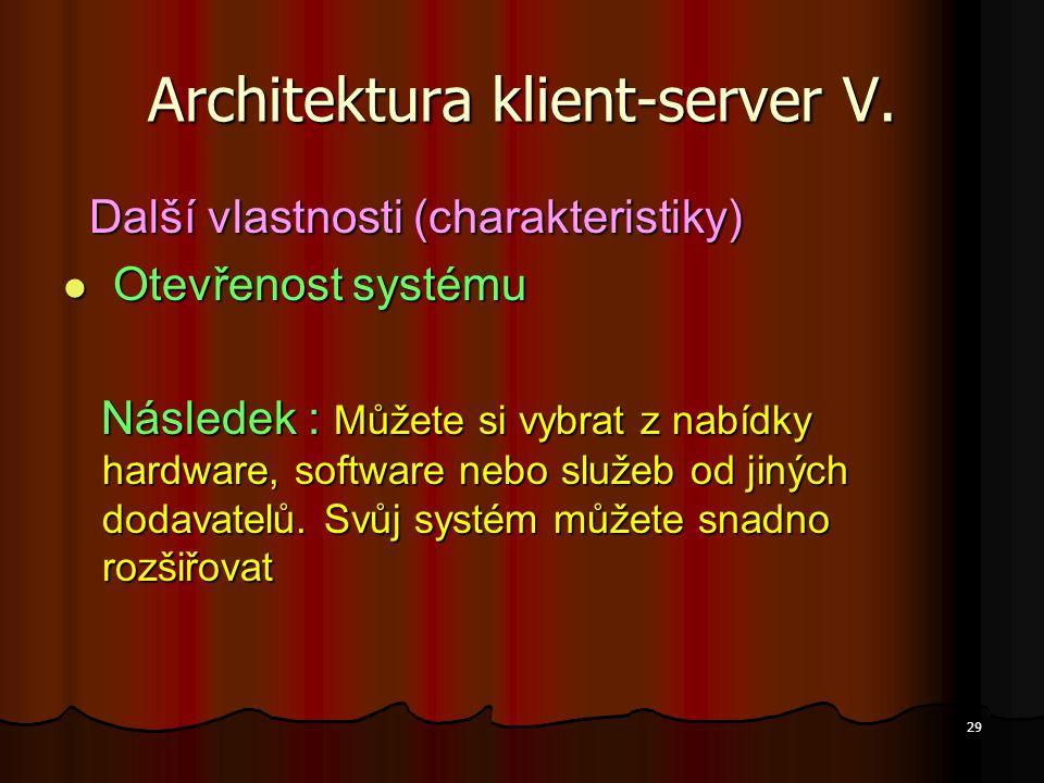 Architektura klient-server V.