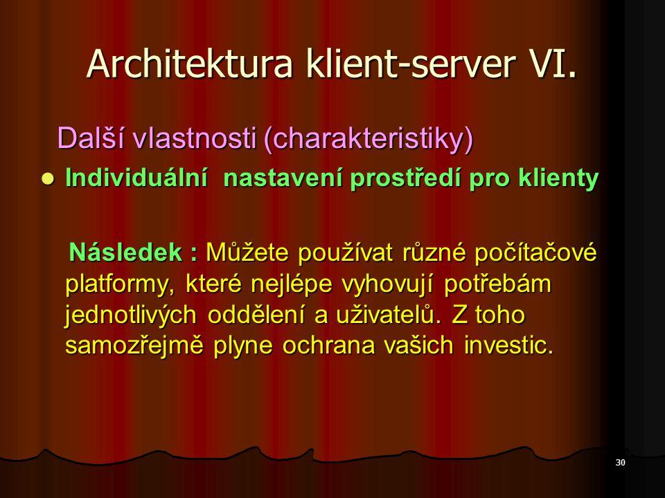 Architektura klient-server VI.