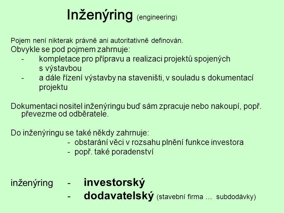 Inženýring (engineering)