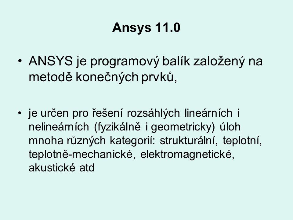 ANSYS je programový balík založený na metodě konečných prvků,