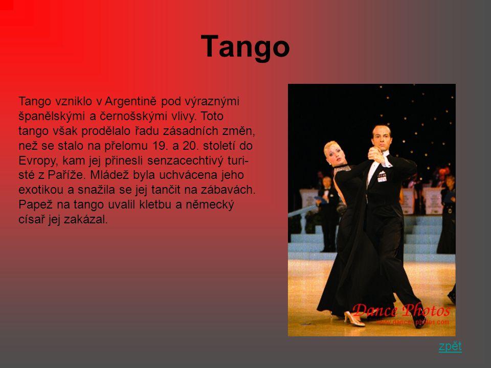 Tango Tango vzniklo v Argentině pod výraznými