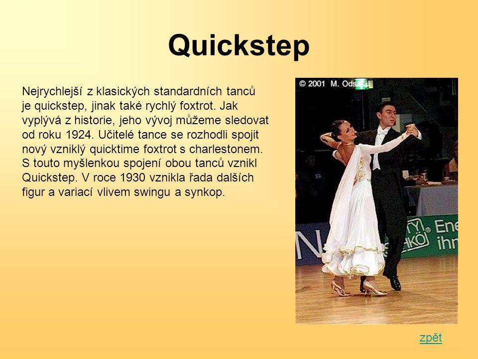 Quickstep Nejrychlejší z klasických standardních tanců