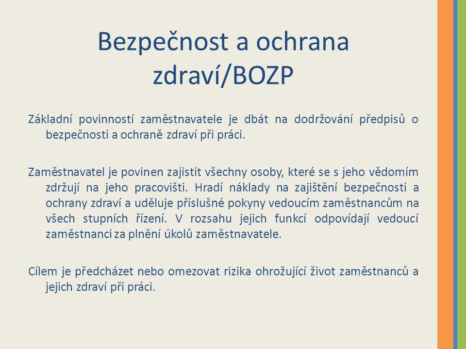 Bezpečnost a ochrana zdraví/BOZP