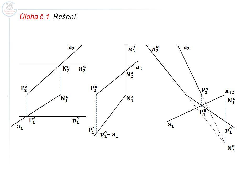 Úloha č.1 Řešení. =