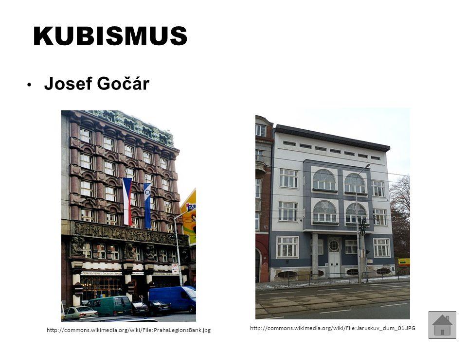 KUBISMUS Josef Gočár. http://commons.wikimedia.org/wiki/File:PrahaLegionsBank.jpg.
