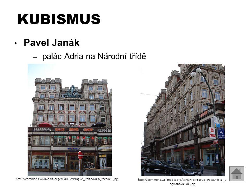 KUBISMUS Pavel Janák palác Adria na Národní třídě