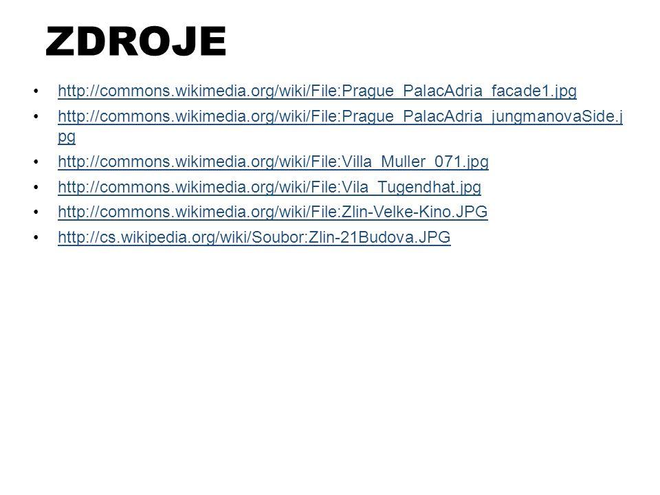 ZDROJE http://commons.wikimedia.org/wiki/File:Prague_PalacAdria_facade1.jpg.