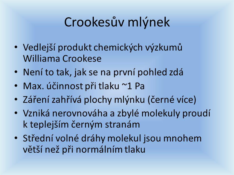 Crookesův mlýnek Vedlejší produkt chemických výzkumů Williama Crookese