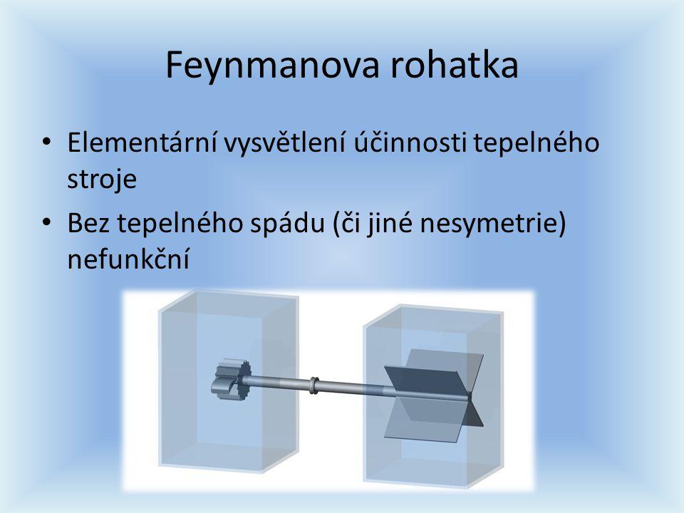 Feynmanova rohatka Elementární vysvětlení účinnosti tepelného stroje