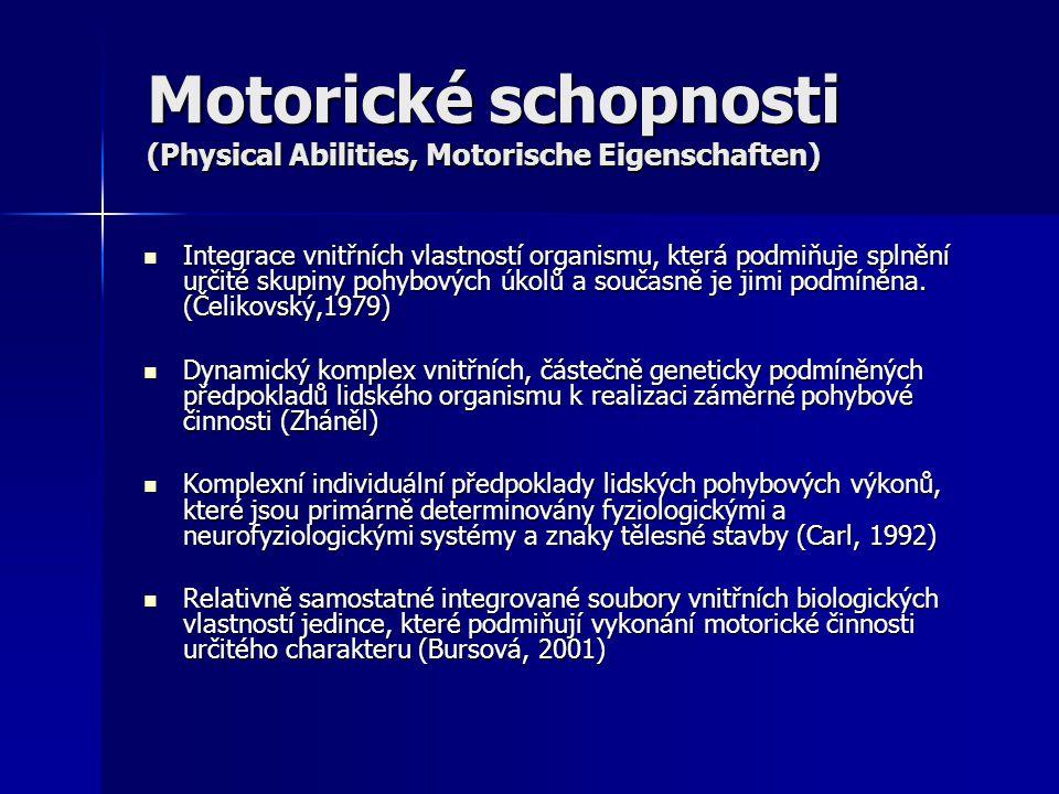 Motorické schopnosti (Physical Abilities, Motorische Eigenschaften)