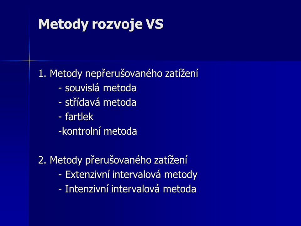 Metody rozvoje VS 1. Metody nepřerušovaného zatížení - souvislá metoda