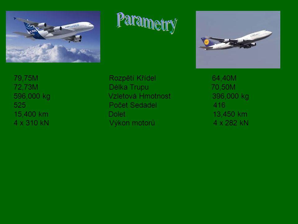 Parametry 79,75M Rozpětí Křídel 64,40M 72,73M Délka Trupu 70,50M