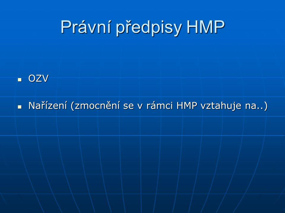 Právní předpisy HMP OZV