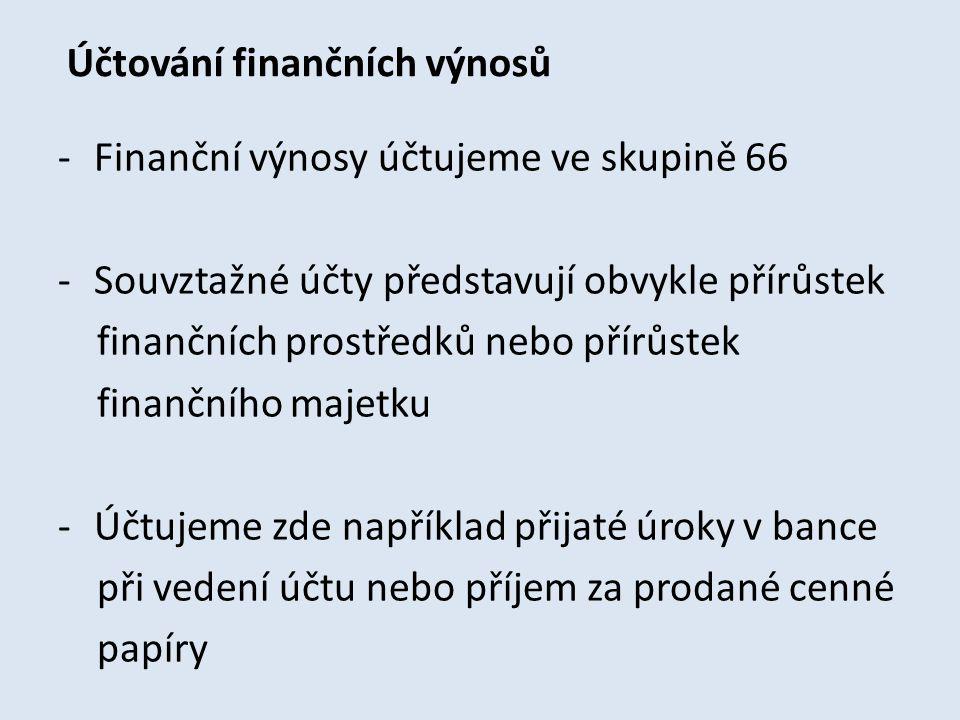 Účtování finančních výnosů