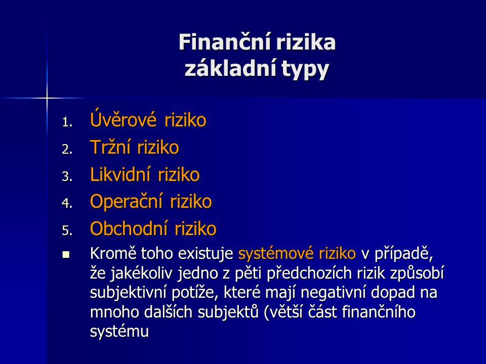 Finanční rizika základní typy