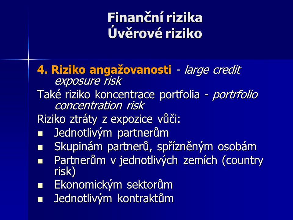 Finanční rizika Úvěrové riziko