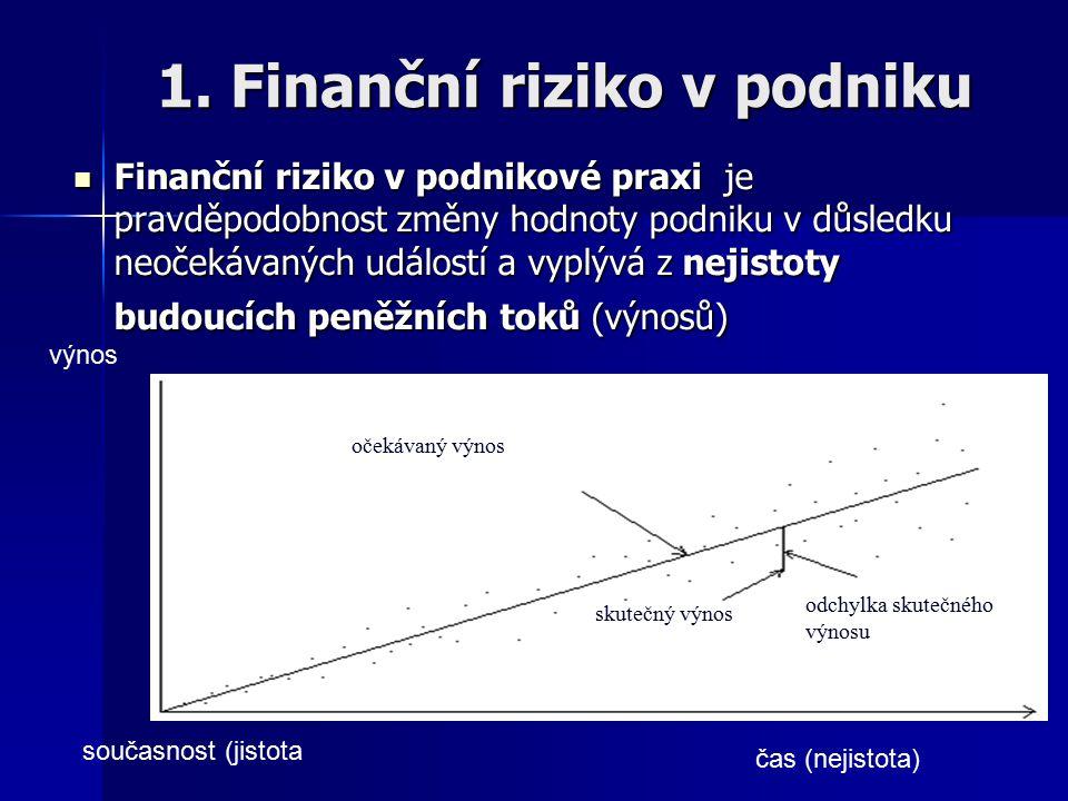 1. Finanční riziko v podniku