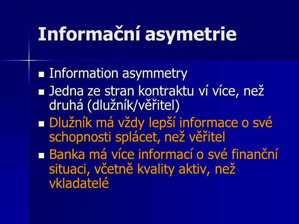 Informační asymetrie Information asymmetry