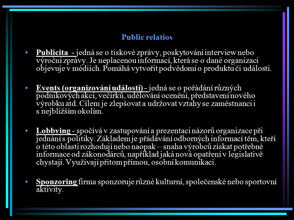 Public relatios