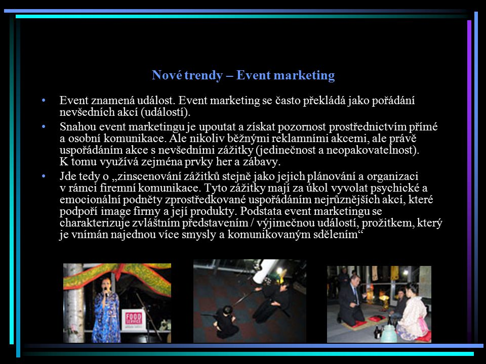 Nové trendy – Event marketing