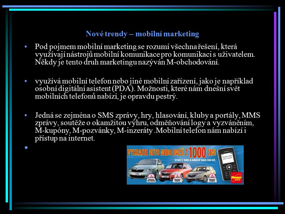 Nové trendy – mobilní marketing