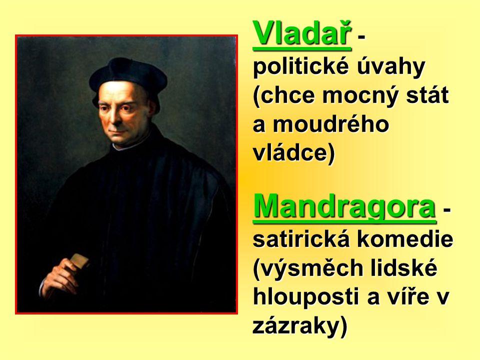 Vladař - politické úvahy (chce mocný stát a moudrého vládce)
